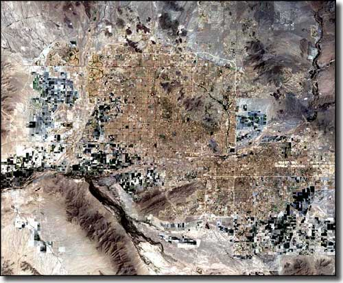 Phoenix Metro area, Landsat photo