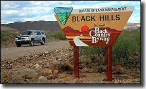 Black Hills Back County Byway sign