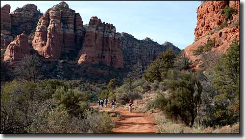 Pathway at Bell Rock, along the Red Rock Scenic Road