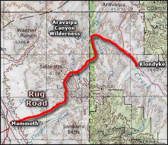 Map of Rug Road