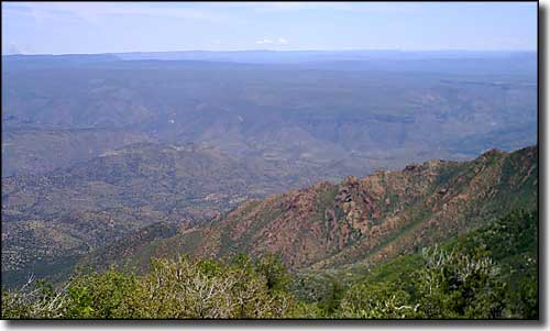 View over the Verde Valley from the top of Pine Mountain Wilderness