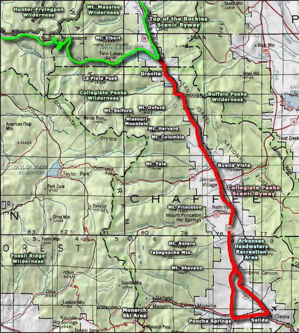 Fossil Ridge Wilderness area map