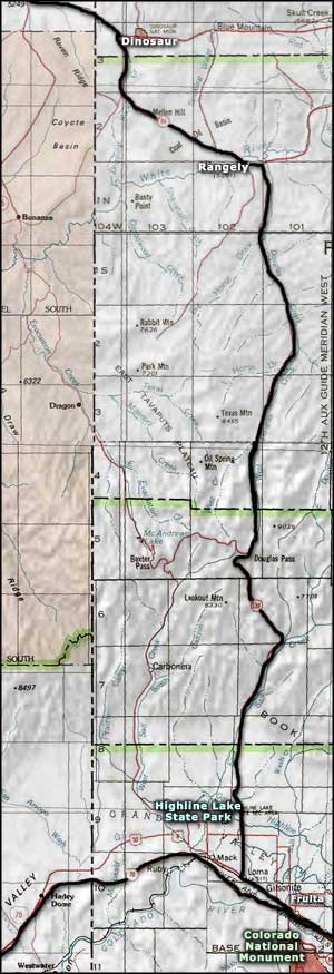 Dinosaur Diamond Scenic Byway area map