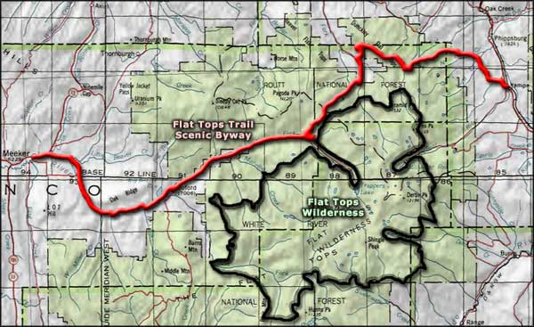 Flat Tops Trail Scenic Byway area map