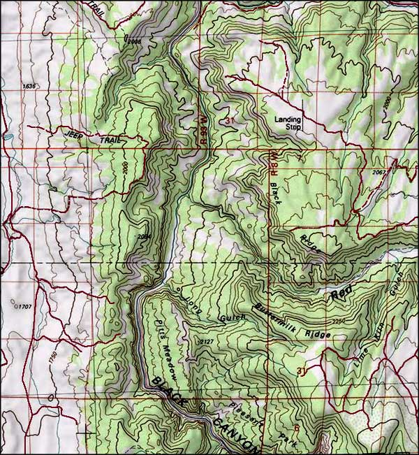 Gunnison Gorge Wilderness map
