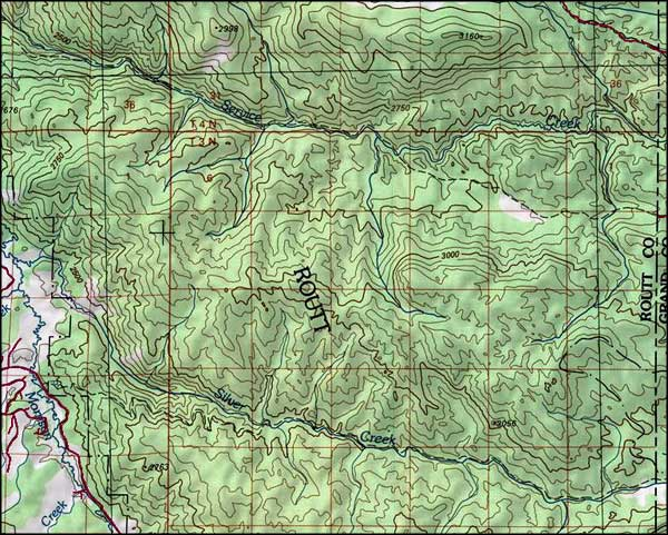 Sarvis Creek Wilderness map