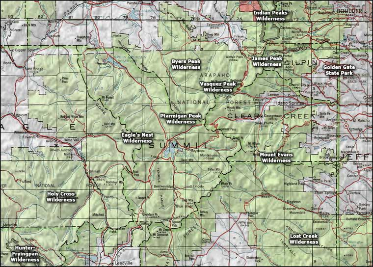 Summit County Area wildernesses