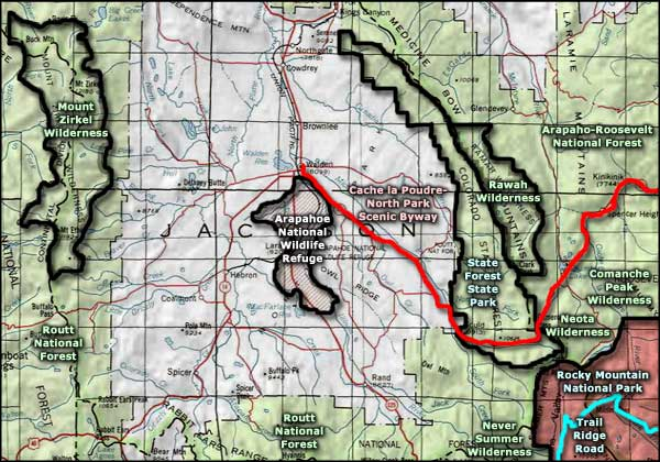 Mount Zirkel Wilderness area map