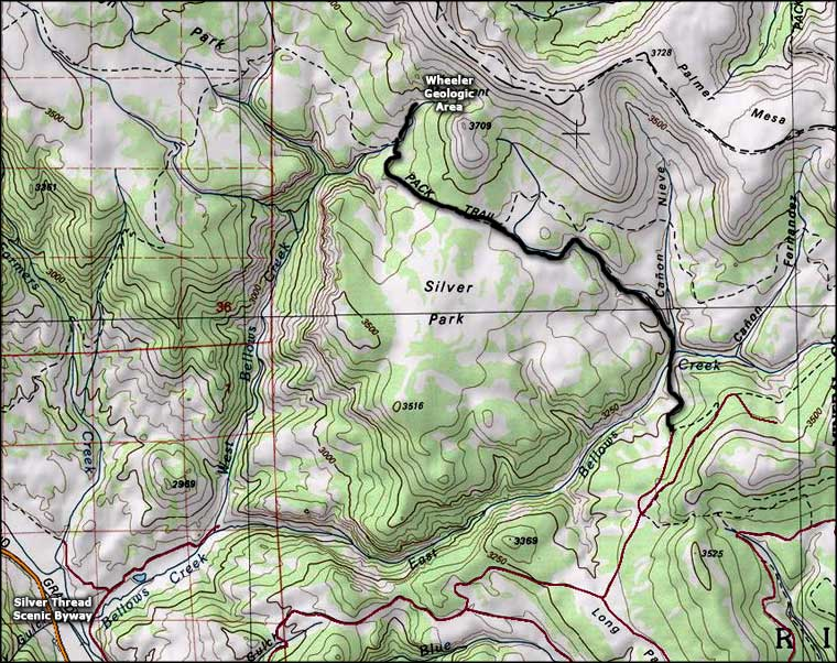 Wheeler Geologic Area area map