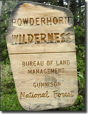 Powderhorn Wilderness boundary sign