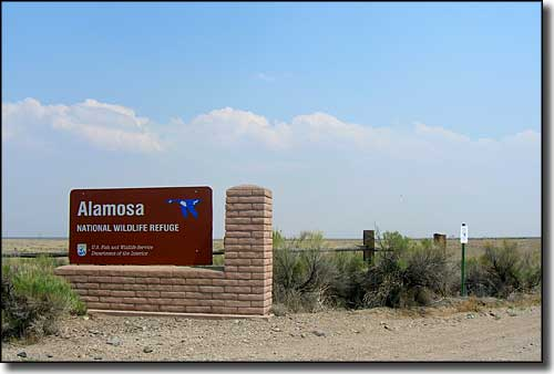 Entry sign at Alamosa National Wildlife Refuge