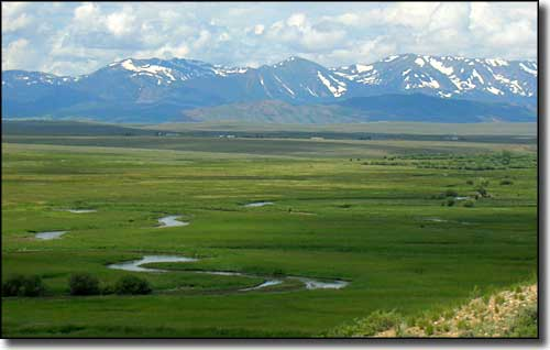 Arapaho National Wildlife Refuge with Mt. Zirkel Wilderness in the background