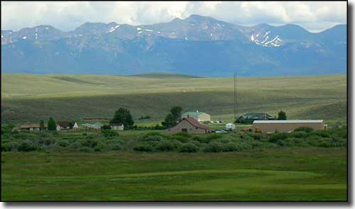 Arapaho National Wildlife Refuge Headquarters, Medicine Bow Mountains in the distance