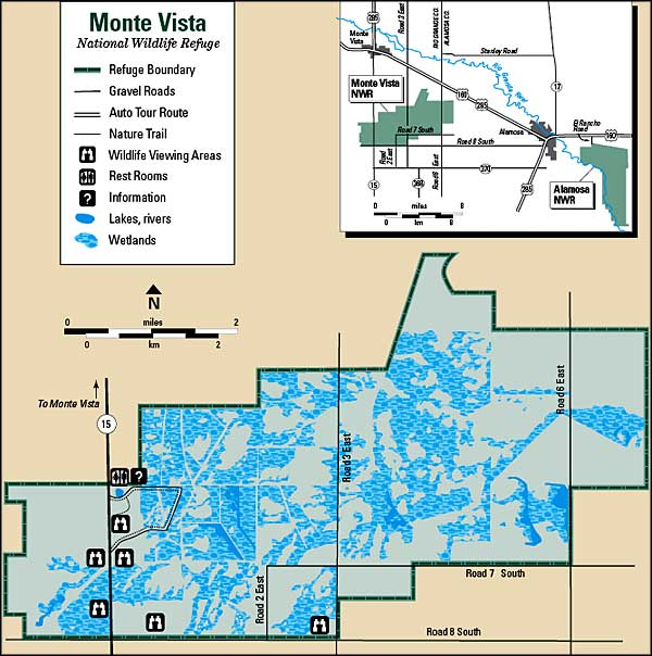 Map of Monte Vista National Wildlife Refuge