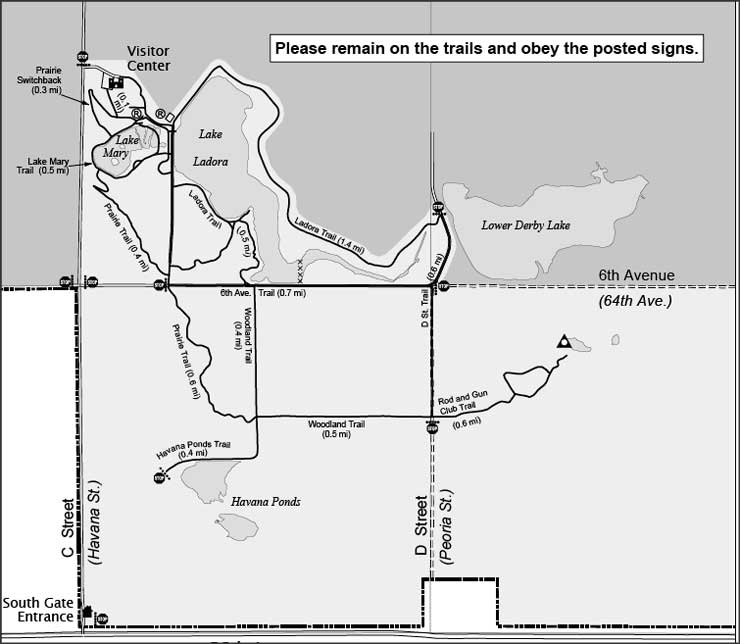 Rocky Mountain Arsenal National Wildlife Refuge trail map