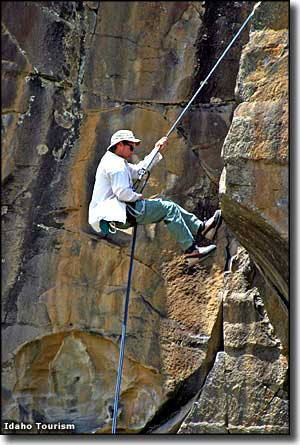 Rock climbing in City of Rocks National Reserve