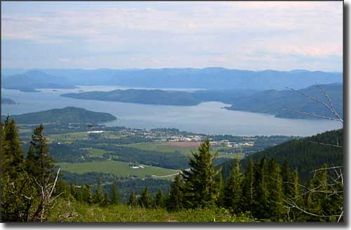 Overlooking Ponderay and Lake Pend Oreille