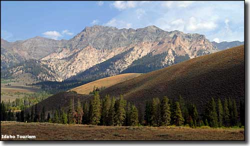 Castle Peak in the Boulder Mountains, Sawtooth National Recreation Area