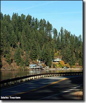 Along the Coeur d'Alene Scenic Byway