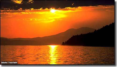 Sunset at Lake Pend Oreille