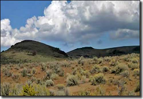 A typical view along the Owyhee Uplands Back Country Byway