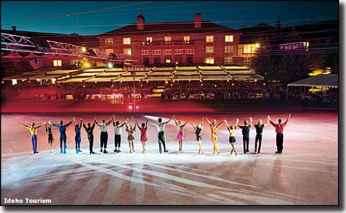 An ice show at Sun Valley Resort