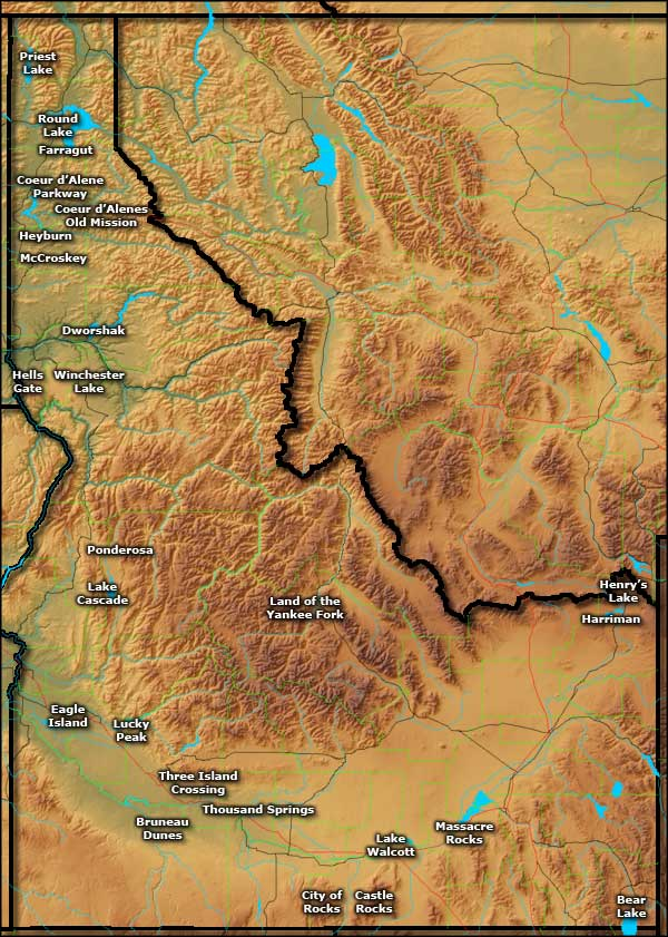 Idaho State Parks: Map Of Idaho State Parks At Usa Maps