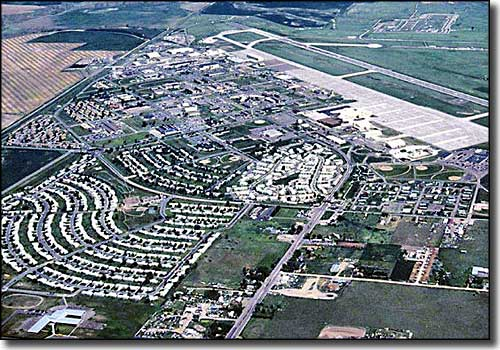 Aerial view of Malmstrom Air Force Base