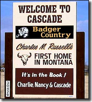 Cascade, Montana, former home of Charles Marion Russell