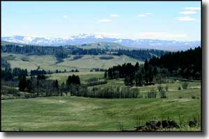 Looking toward the Highwood Mountains from the area of Highwood, Montana