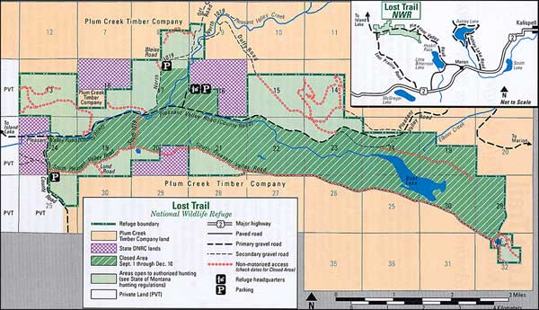 Lost Trail National Wildlife Refuge map