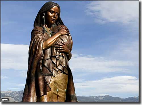 Sacajawea Monument in Salmon, Idaho