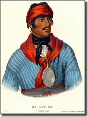Selocta, a prominent Muscogee-Creek chief