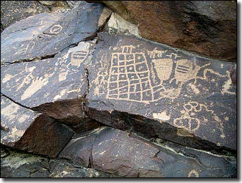 Rock art in the North McCullough Wilderness