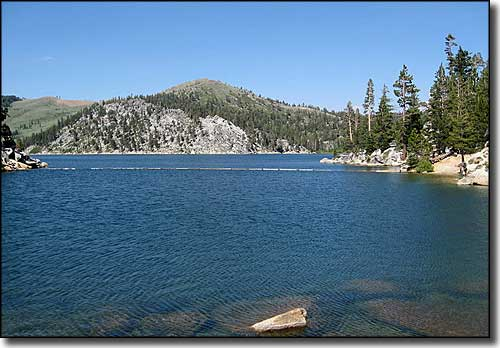 Marlette Lake, in the upper part of the Spooner Lake Ski Trails