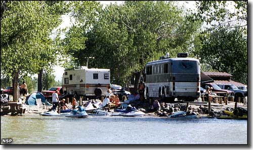 A typical holiday weekend at Lahontan State Recreation Area