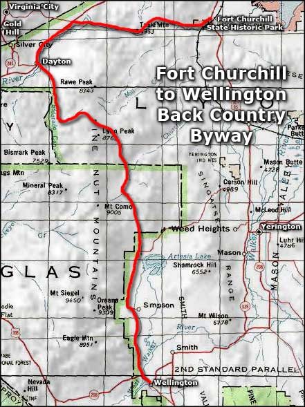 Fort Churchill to Wellington Back Country Byway area map