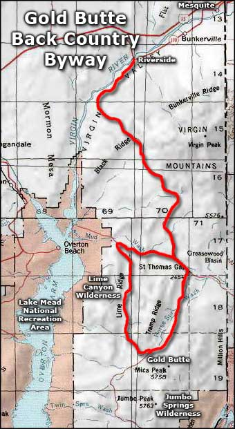 Lime Canyon Wilderness area map