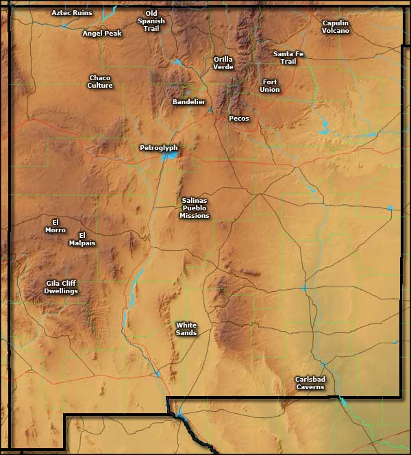 National Park Service Sites in New Mexico