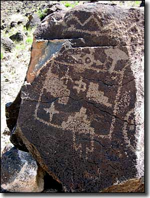 A petroglyph at Petroglyph National Monument