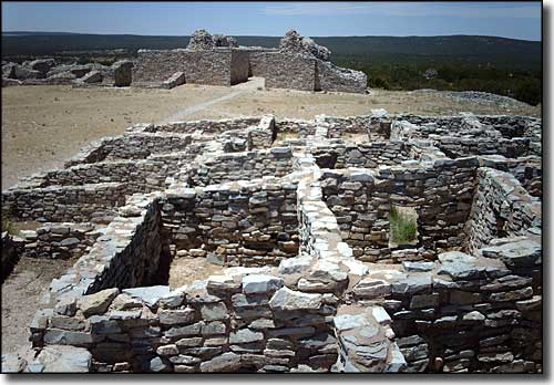 The ruins at Gran Quivira, Salinas Pueblo Missions national Monument