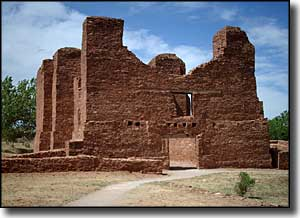 The ruins at Quarai, Salinas Pueblo Missions National Monument