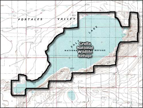 Grulla National Wildlife Refuge map
