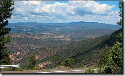 Looking across Gila National Forest from Trail of the Mountain Spirits Scenic Byway