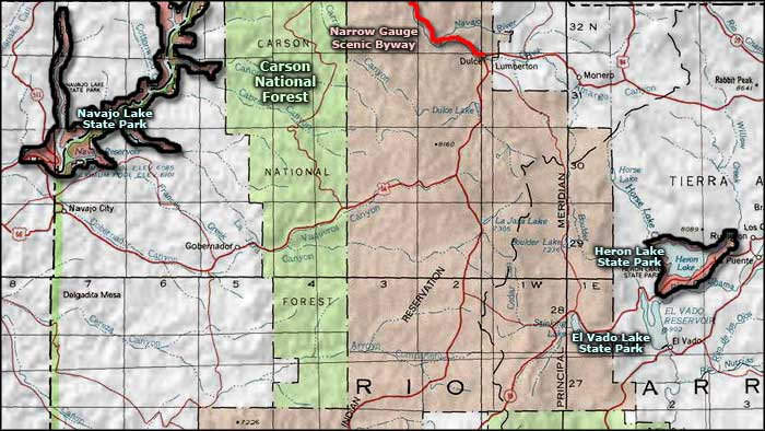Narrow Gauge Scenic Byway area map