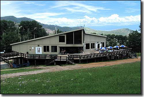 Pajarito Mountain Ski Lodge in summer