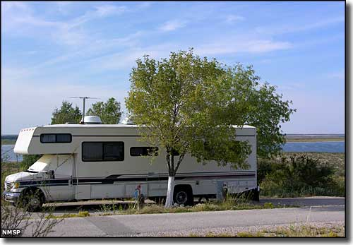 RV camping at Brantley Lake State Park
