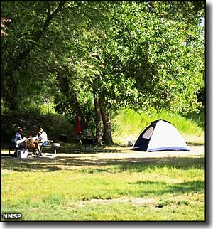 Tent campers at Caballo Lake State Park