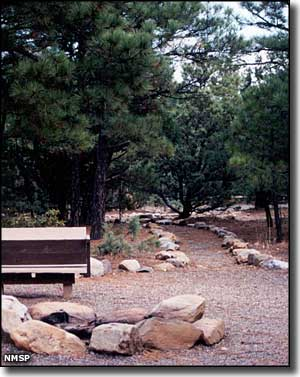 One of the hiking trails at Manzano Mountains State Park