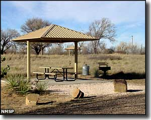 Picnic shelter at Oasis State Park